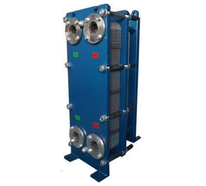 Plate heat exchanger with titanium plate